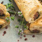 Salsiccia rolls with kale-condiment