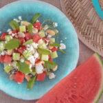 Summer Melon Salad with fresh Cuttlefish